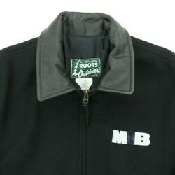 Vtg 90s Men In Black Large 51 Movie Promo Full Zip Jacket Outdoors Roots Canada