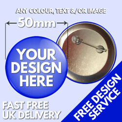 50mm Custom Badges Andbull Personalised Printed Badge Andbull Hen Stag Promotional Button