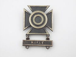 Original Wwii Us Army Sharpshooter Sterling Badge W/ Rifle