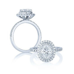1.63 Ct Oval Diamond 14k White Gold Gorgeous Look Anniversary Ring Size 4 5 6 7