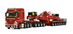 For Benz Actros Mp4 Big Space Slt 8x4 Wind Mill Trailer 7 Axle Dolly 1/50 Model