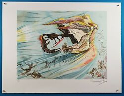Salvador Dali Signed And Numbered Homage To Lincoln Color Lithograph 1974
