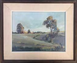 Mildred Ames Waters 1971 Farmhouse Country Barn Farm Landscape Painting Listed