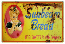 Vintage Style Sign Sunbeam Bread Batter Whipped 18 X 12