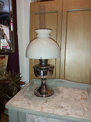 Vintage Aladdin Paraffin Lamp With Shade And Funnel No 23