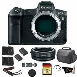 Canon Eos R Mirrorless Digital Camera Body Only Bundle +canon Mount Adapter+ R