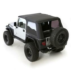 Softtop Combo For 97-06 Wrangler Tj Oem Replacement W/tinted Windows Blk 9973235