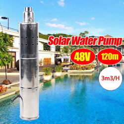 New Solar Submersible Powered Water Pond Fountain Deep Well Pump 3m³/h 120m Usa