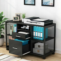 Tribesigns Lateral File Cabinet Rolling Filing Cabinets W/ Letter Size Drawer