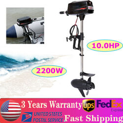 10hp Electric Outboard Motor Brushless Boat Engine 60v 2200w Fishing Boat Engine