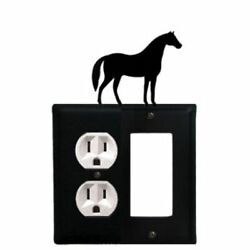 Village Wrought Iron Horse - Single Outlet And Gfi Cover