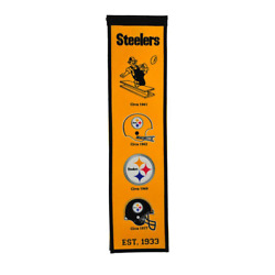 Pittsburgh Steelers Heritage Banner Wool Retro Banner Gold