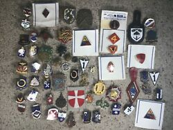 Large Lot French, Us, Foreign Military Pins, Badges, And Buttons Wwii-1990's