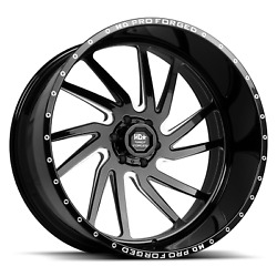 24x12 Hd Pro Forged Hdpro-01 Hornet 6x139.7 Gloss Black Milled - Wheel - Right