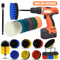 Drill Brush Attachments Set Scrub Pads Sponge Power Scrubber Wash Cleaning Kit