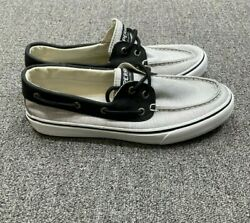 Sperrys Mens Top Sider Gray Black Boat Shoes Size 10 M