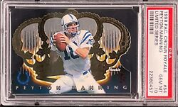 Peyton Manning 1998 Pacific Crown Royale Limited Series 54 /99 Rc Psa 10 Pop 4