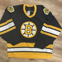Boston Bruins Nhl Hockey Vintage 80s Ccm Air Knit Happy Gilmore Jersey Small