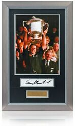 Sean Fitzpatrick Hand Signed Large New Zealand Rugby Presentation Aftal Coa