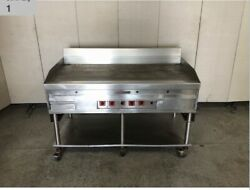Magikitch'n 60 Inch Natural Gas Thermostat Control Griddle On Equipment Stand