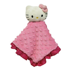 Hello Kitty Lambs And Ivy 2012 Pink Ruffle Security Blanket Stuffed Plush Lovey