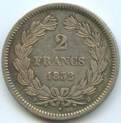 Louis Philippe The1st 2 Francs 1832 H The Rochelle