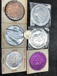 Lot Of 6 Of Carnival Mardi Gras Doubloons H. Alvin Sharpe