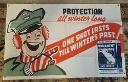 Cities Services Vintage Banner City Service Sign Rare Large Canvas 36inx56in