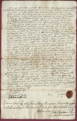 Stephen Sewall, Clerk Of The Court, Salem Witch Trials, Signed Document, Coa