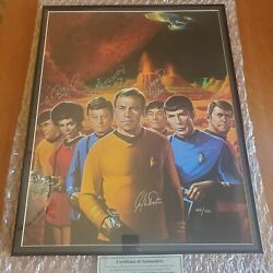 Star Trek Autographed Signed Lithograph Poster 22x28 Authenticated /500