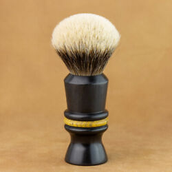 Mred 1 3/16in Shaving Brush Ebony And Maulbeerholz And Badger Hair 2-band Silvertip