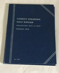 Liberty Standing Half Dollar In Whitman Folder 1937-1947 Incomplete 18 Coins