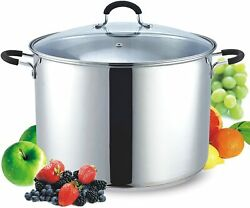 Cook N Home 12 Stainless Steel Saucepot With Lid Quart Stockpot Qt Silver