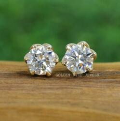 2.50 Tcw Pairs Of Studs / Round Cut Solitaire Claw Prong Earrings