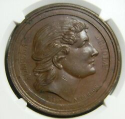 New York Ny 1880and039s Union Coffee Co Medal Mary Anderson Ngc Ms 63 Bn