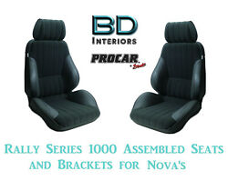 Assembled Seats And Brackets For 1963-1979 Nova 80-1000-71 Rally 1000 Series Scat