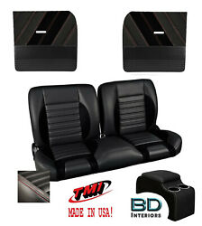 Sport R 55 Bench Seat, Flat Door Panel And Console Kit 1955-1959 Chevy Trucks