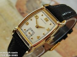 1951 Vintage Hamilton Grover Stunning Silver Dial Serviced With Warranty