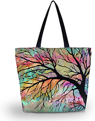 Tote Bags Travel Beach Totes Bag Shopping Zippered for Women Foldable Waterproof $17.98