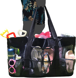 Oversized Mesh Beach Bag Extra Large Mesh Tote Bag Beach Toy Bag with Zipper Dur $28.69