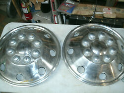 Dually Simulators Chrome 16 Hubcap 1970and039s 1980and039s 1990and039s Ford Dodge Chevy Pair