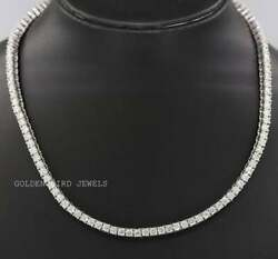 Moissanite Choker Collar Necklace / Round Moissanite Single Row Necklace