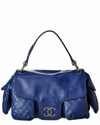 Blue Lambskin Leather Coco Bag Womenand039s