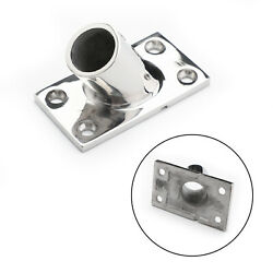 Boat Hand Rail Fittings 60 Degree 7/8 Pipe Base 316 Stainless Steel F1