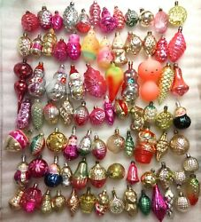 Set 83 Vintage Russian Ussr Glass Christmas Ornaments Xmas Tree Old Decorations