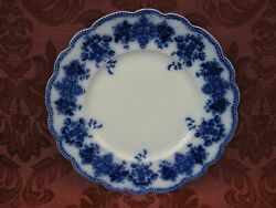 Grindley Clarence Flow Blue China 8-7/8 Luncheon Plate - Nice