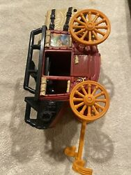 Fisher Price Great Adventures Fort Dakota Covered Wagon Cannon Toy 1997