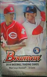 2018 Bowman Baseball Gravity Pack 10 Cards Per Pack With Chrome Ohtani Acuna