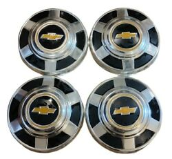 1973-1987 Vintage Chevy Truck Hubcaps K-10 1/2 Ton 2wd C10 Dog Dish, Wheel Cover