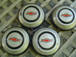 Vintage Chevrolet Suburban Cameo Pickup Truck Hubcaps Wheel Covers Center Caps